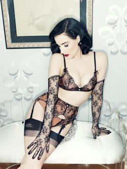 Dita Von Teese savoir faire bra and brief