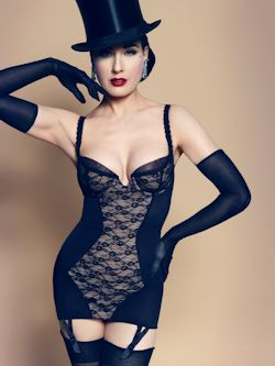 Dita Von Teese sheer witchery corset