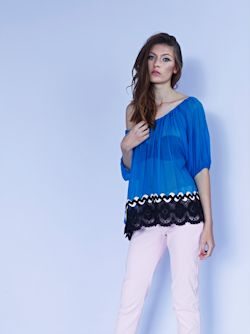 Racquel top in silk gorgette $399 and Cotton candy capri pants $259 low res