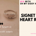 WIN: Oh My Giddy Aunt Double Heart Signet Ring Set